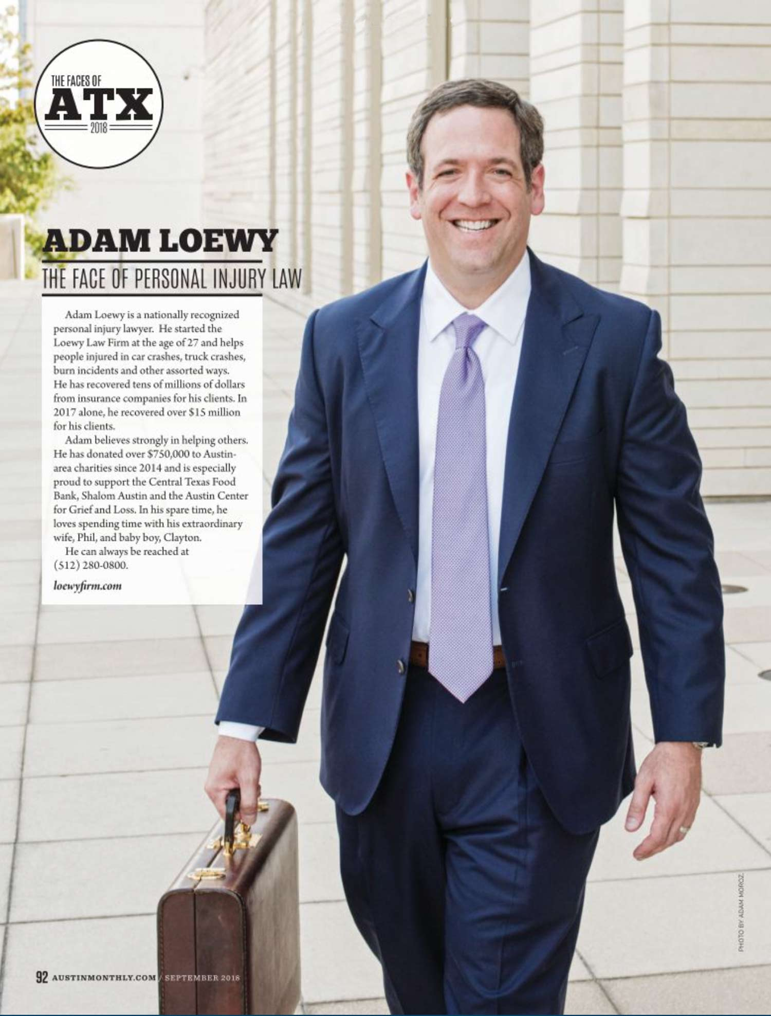 Adam Loewy Austin Monthly Face of Personal Injury Law