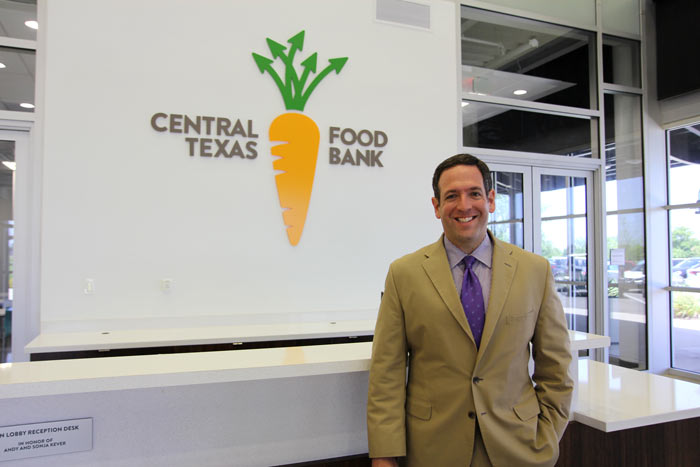 Adam Visiting the Central Texas Food Bank