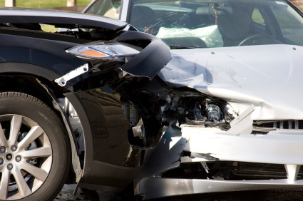 car accident front damage