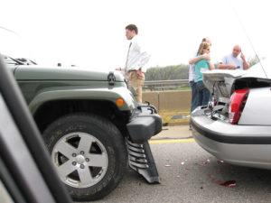car wreck suv sedan