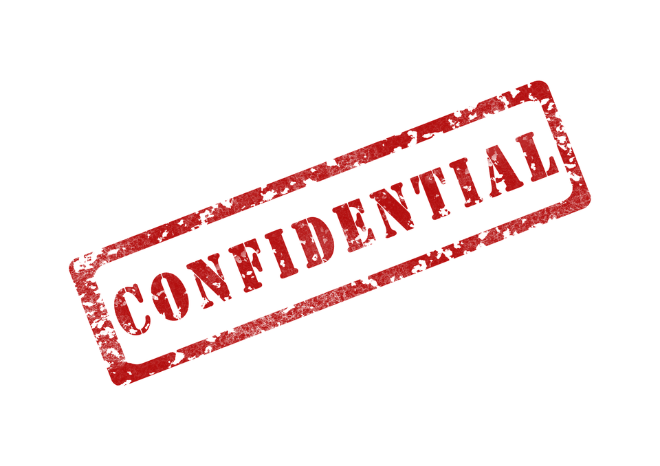 confidential stamp graphic