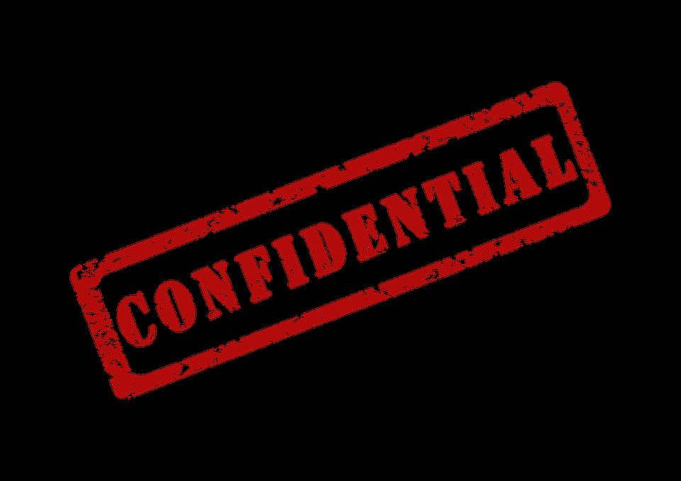 confidential stamp graphic
