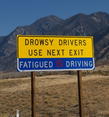 drowsy-driving-exit-sign
