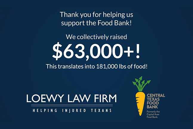 Loewy Law Firm with Central Texas Food Bank
