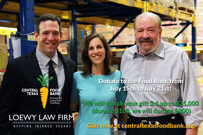 Loewy Law Firm Central Texas Food Bank Ad